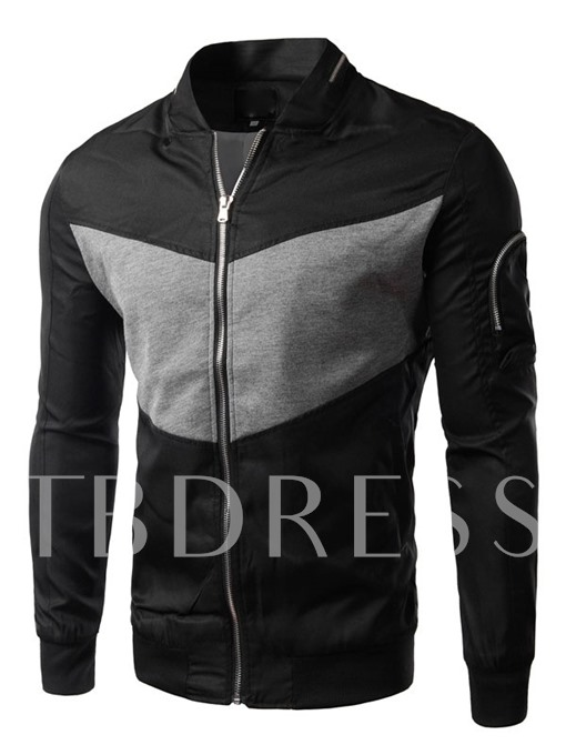 Major Block Stand Collar Men's Hoodie