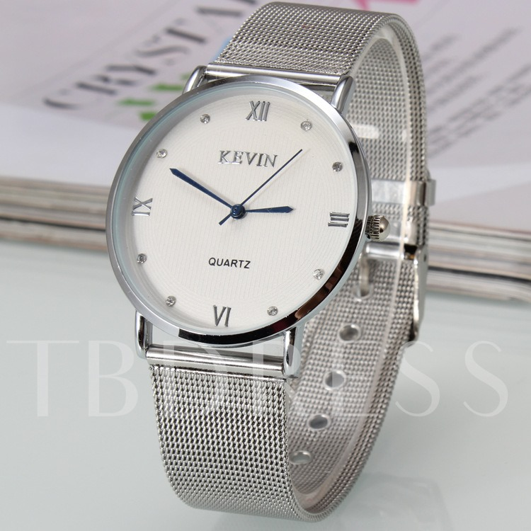 Simple Roman Numerals Dial Couple Watches