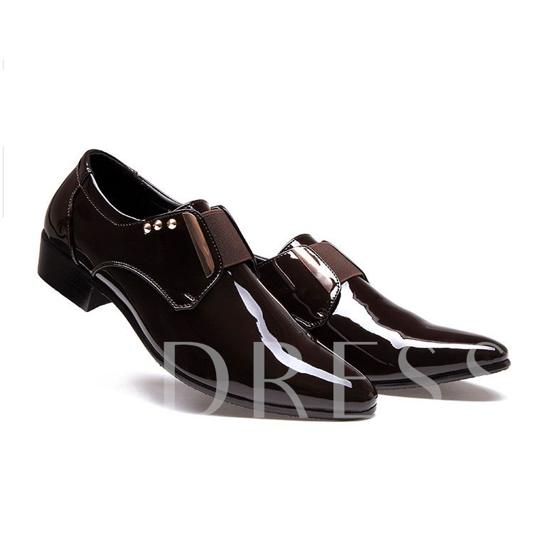 Pointed Toe Slip-On Buckle Men's Oxford