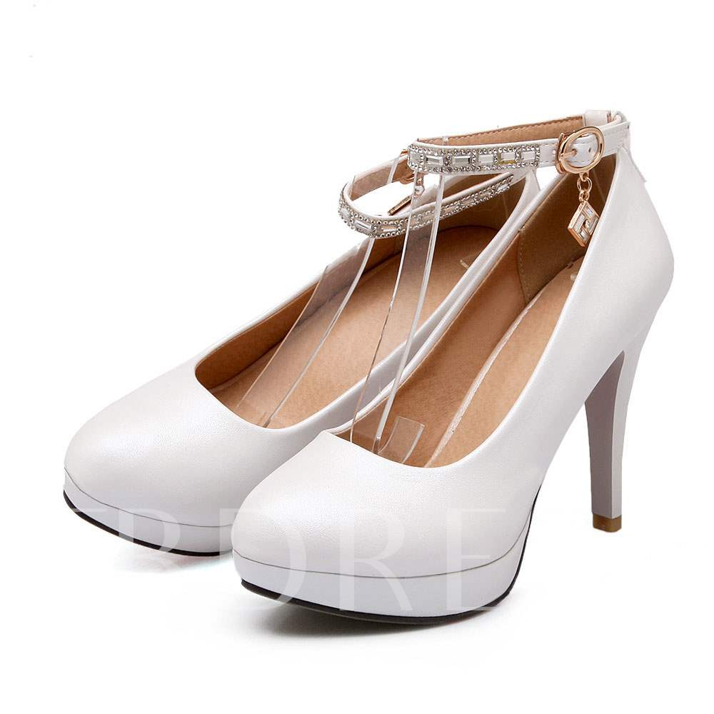 Pointed Toe Stiletto Heel Bead Women's Pumps