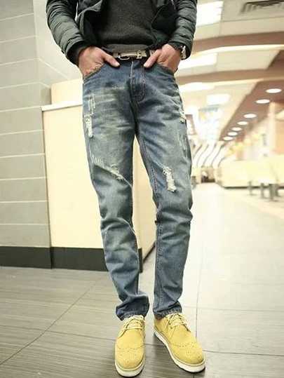 Distressed Men's Denim Pants