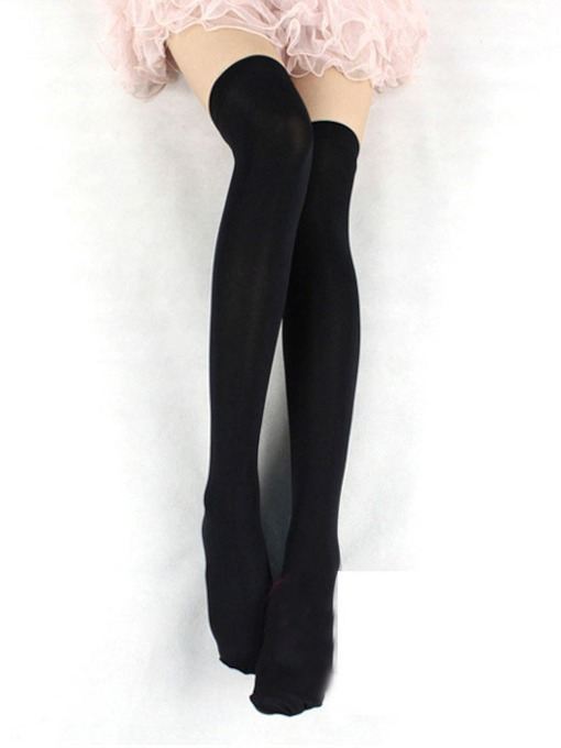 Solid Color Cute School Girl Over-Knee Stocking Compression Socks