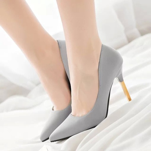 Pointed Toe Goblet Heel Slip-On Women's Pumps