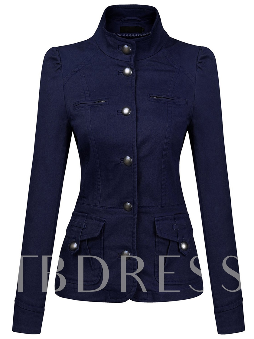 Solid Color Long Sleeve Women's Jacket