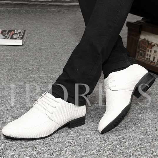Lace-Up Front Low Heel Slip-On Men's Oxfords
