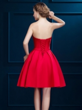 A-Line Sweetheart Pleats Sashes Short Homecoming Dress