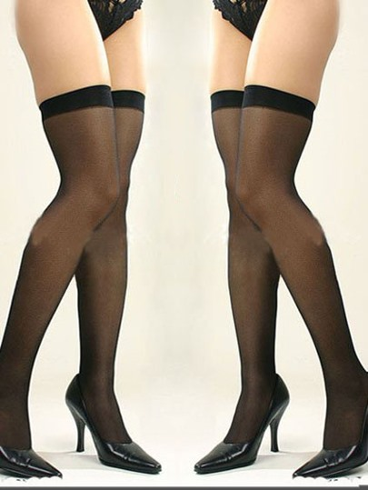 Charming Mesh Thin Top Thigh High Stockings Compression Socks