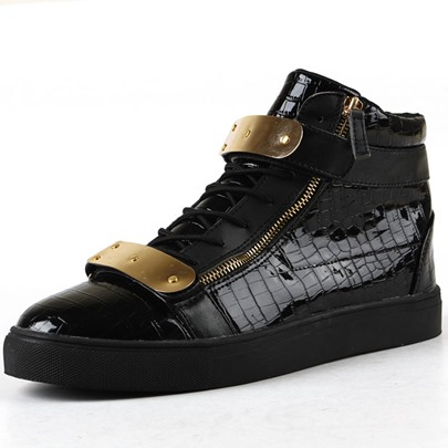 Sequins Round Toe Lace-Up Front Men's Sneakers