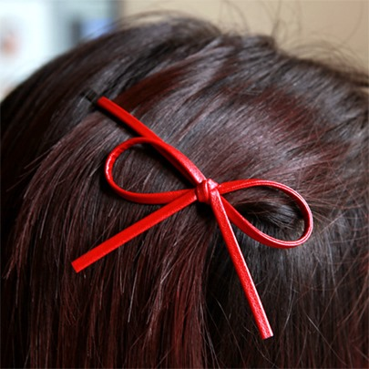 Simple Color Bowknot Hairpin Hairaccessory