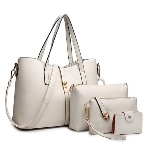 Casual Solid Color PU Bag Sets