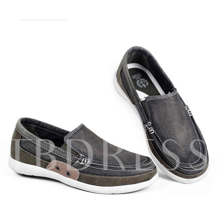 Sequins Round Toe Slip-On Men's Canvas