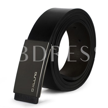 Two-Side Application Alloy Smooth Buckle Men's Belt