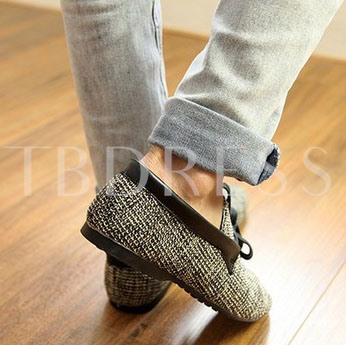 Lace-Up Front Flat Heel Slip-On Men's Losfers