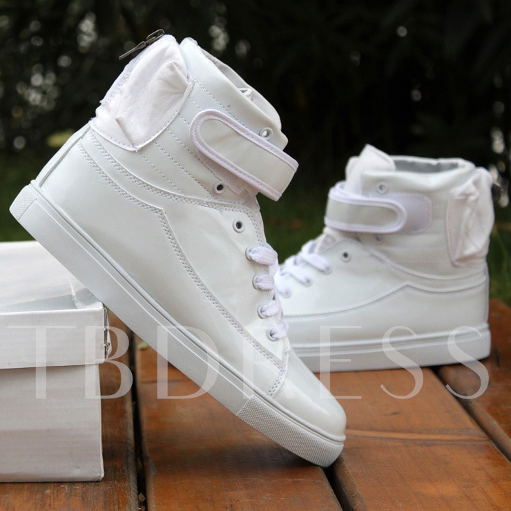 Flat Heel Ankle Lace-Up Front Men's Sneakers