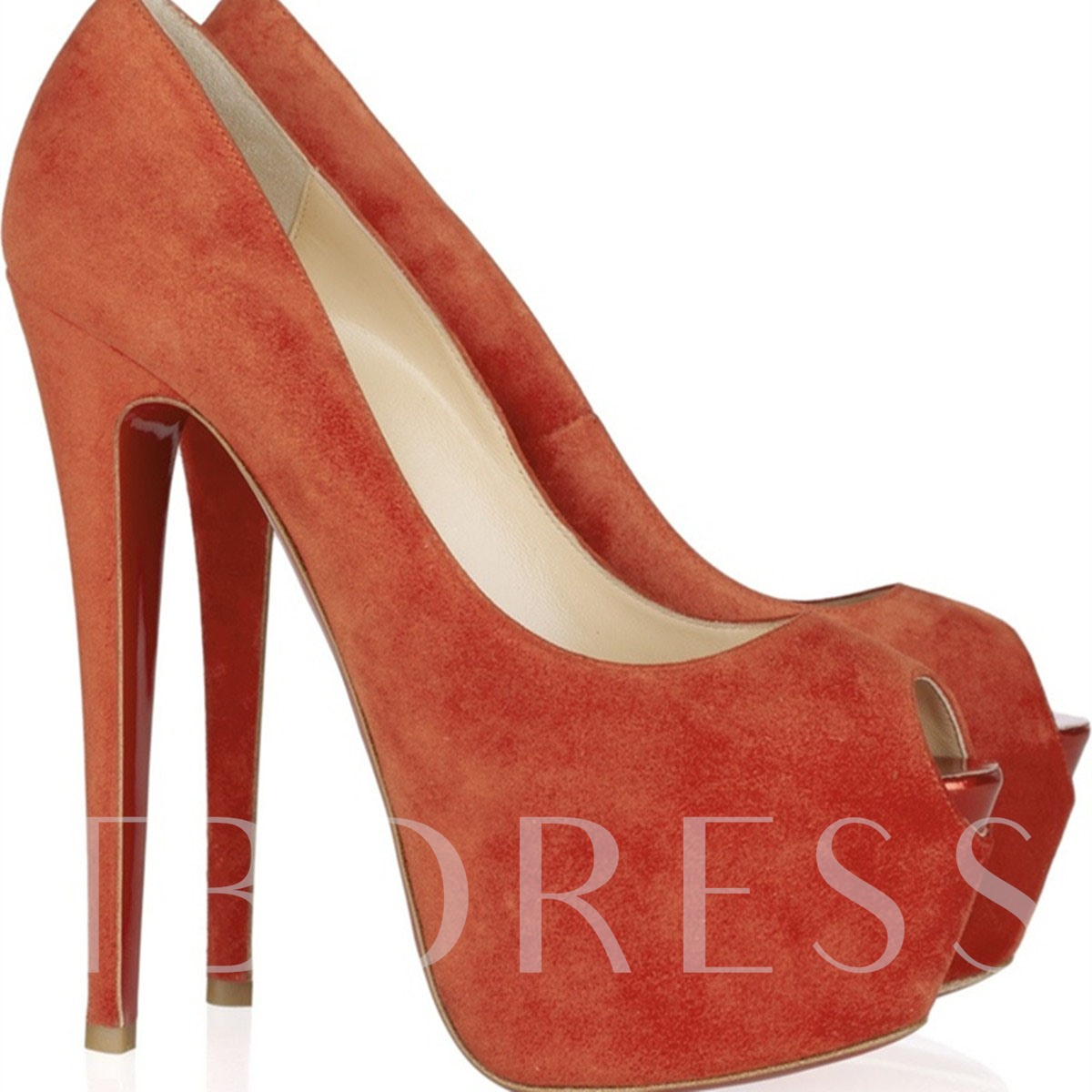 Platform Peep Toe Stiletto Heel Women's Pumps
