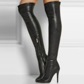 Pointed Toe Stiletto Heel Side Zipper Over-the-Knee Women's Boots