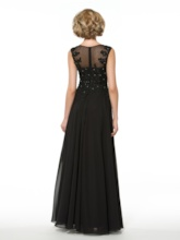 A-Line Beading Appliques Chiffon Mother of the Bride Dress