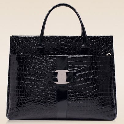 New Snake-Embossed PU Women Tote Bag