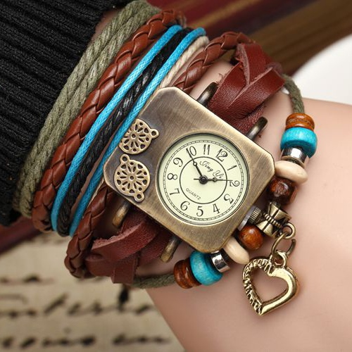 National Style Retro Multi-Layer Watch
