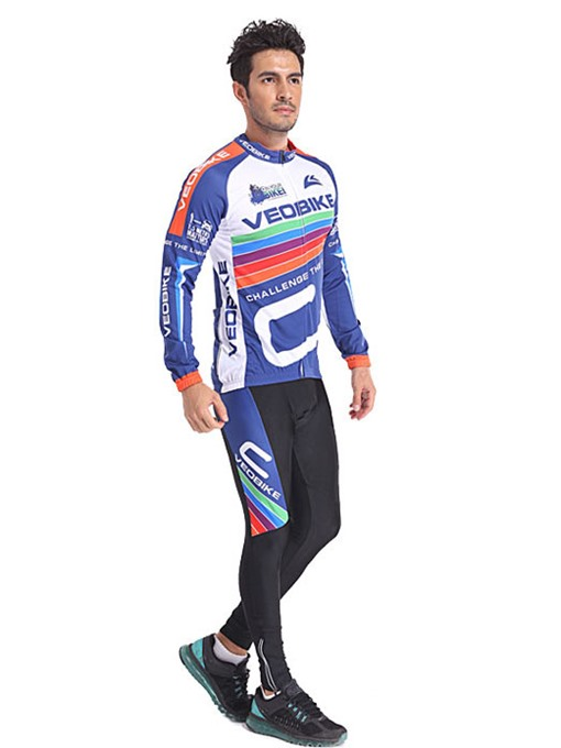 Sweat-Absorption Quick Drying Elastic Materials Men's Biking Suit
