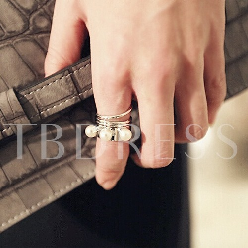 Metal Pearl Rotational Spring Rings