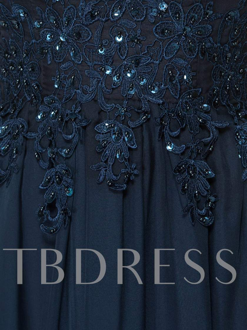 Sequins Beading Appliques Mother of the Bride Dress