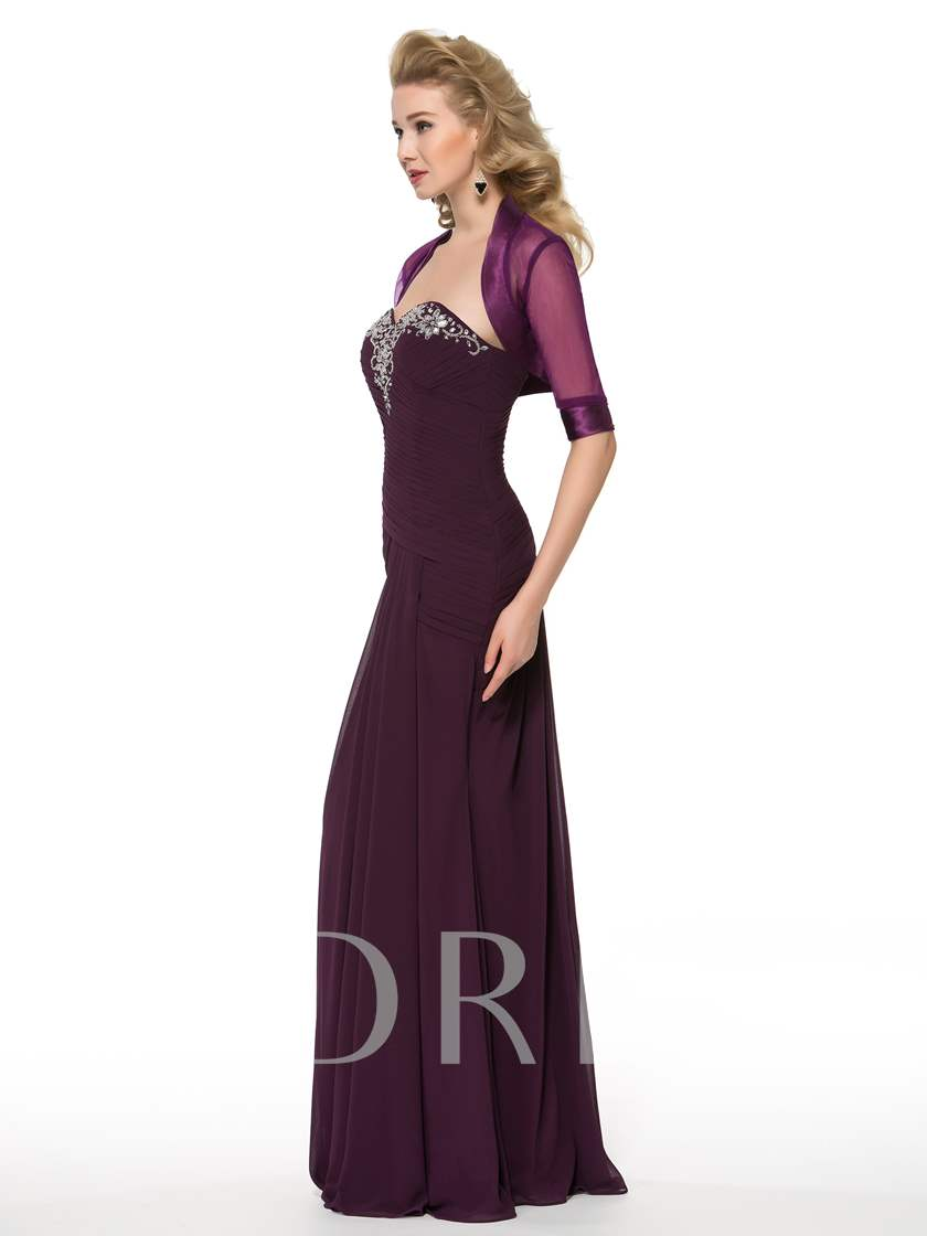 Sweetheart Beading Mother of the Bride Dress with Jacket