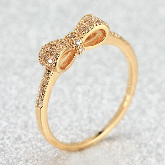 Delicate Bow Index Finger Ring