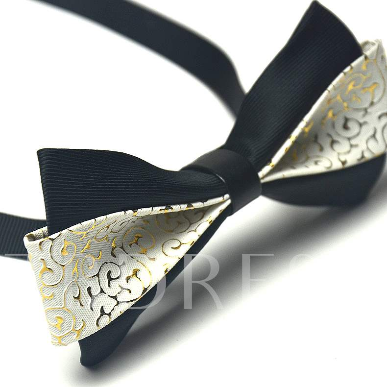 PU Artificial Leather Bow Tie
