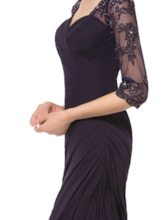 Beading Appliques Half Sleeve Mother of the Bride Dress