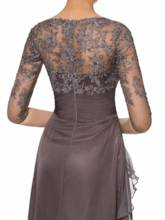 Lace Appliques Mother of the Bride Dress with Sleeves