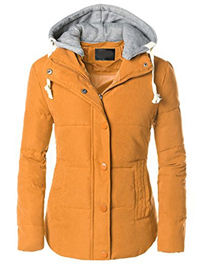 Patchwork Hooded Women's Jacket