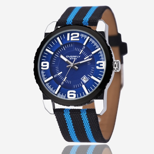Canvas Stripes Strap Watch