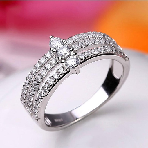 Crown Of Dream Zircon Silver Ring
