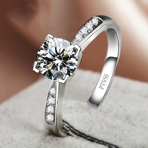 Diamond-Shaped Elegant Wedding Ring