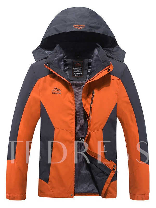 3-in-1 Fleece Lining Thickening Warm Outdoor Interchange Jacket