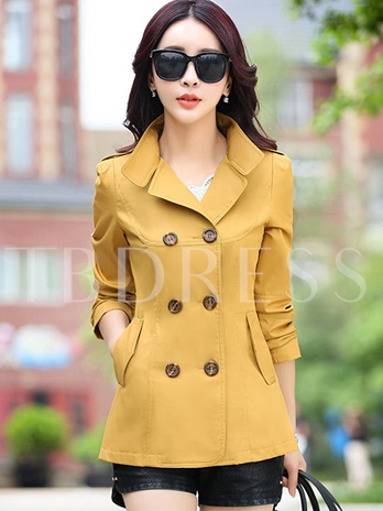 Double-Breasted Women's Slim Fit Trench Coat