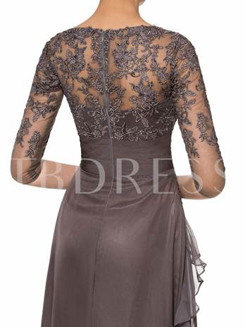 Appliques Mother of the Bride Dress with Sleeve