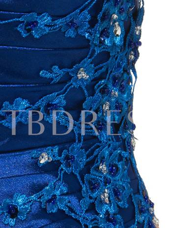 Sheath Appliques Half Sleeve Mother of the Bride Dress