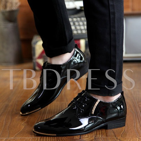 Lace-Up Front Sequins Square Heel Men's Oxfords