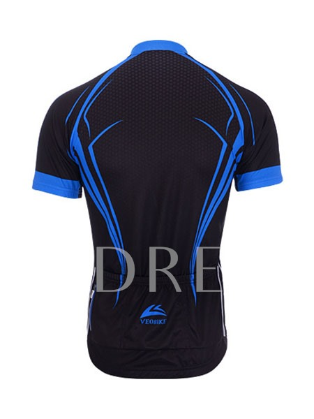 Blue Ribbon Streamed Short Sleeve Cycling Jersey