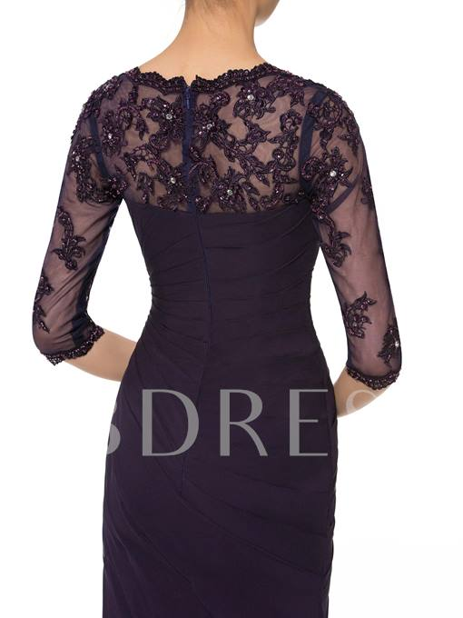 Beading Half Sleeve Mother of the Bride Dress