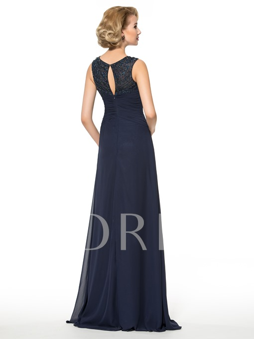 Plus Size Beaded A-Line Floor-Length Chiffon Mother of the Bride Dress