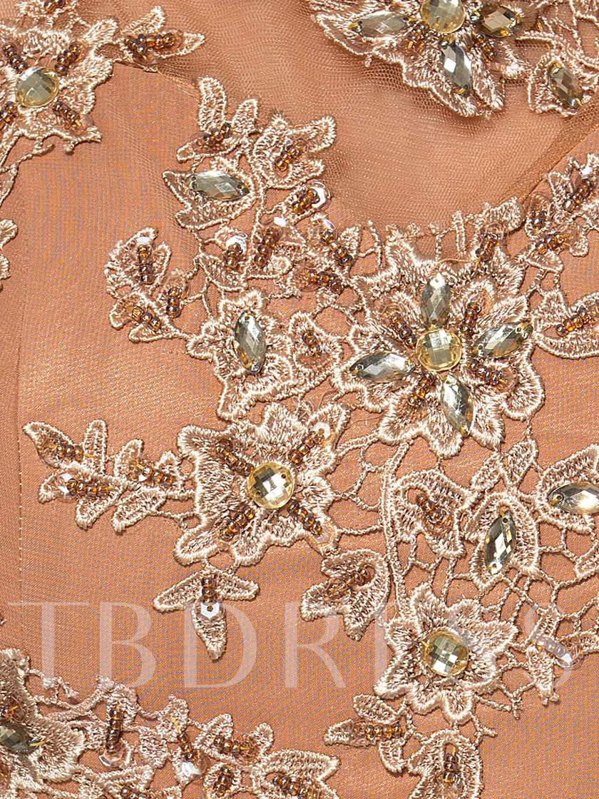 Beading Appliques Column Mother of the Bride Dress