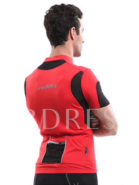 Color Block Short Sleeve Men's Cycling Jersey