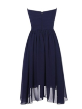 Asymmetrical Length Sequins Pleats Cocktail Dress