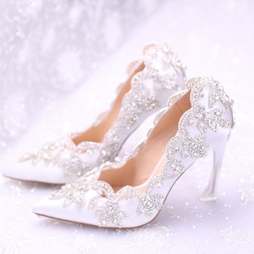 Ultra-High Heel Rhinestone Women's Wedding Shoes