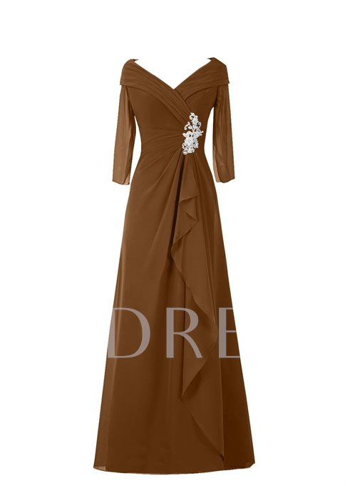 Sleeves Appliques Mother of the Bride Dress