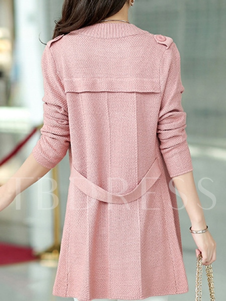 Solid Color Double-breasted Women's Cardigan