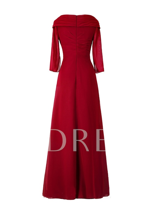Long Sleeve Appliques Mother of the Bride Dress